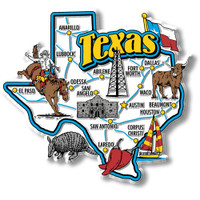 Texas Jumbo State Magnet by Classic Magnets, Collectible Souvenirs Made in the USA