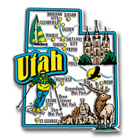 Utah Jumbo State Magnet by Classic Magnets, Collectible Souvenirs Made in the USA