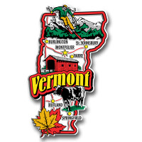 Vermont Jumbo State Magnet by Classic Magnets, Collectible Souvenirs Made in the USA