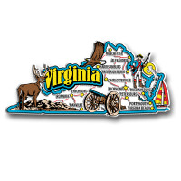Virginia Jumbo State Magnet by Classic Magnets, Collectible Souvenirs Made in the USA