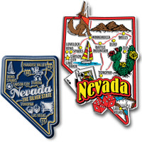 Nevada Jumbo & Premium State Map Magnet Set by Classic Magnets, 2-Piece Set, Collectible Souvenirs Made in the USA