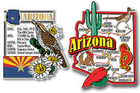 Arizona Jumbo Map & State Montage Magnet Set by Classic Magnets, 2-Piece Set, Collectible Souvenirs Made in the USA