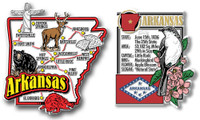 Arkansas Jumbo Map & State Montage Magnet Set by Classic Magnets, 2-Piece Set, Collectible Souvenirs Made in the USA