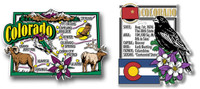 Colorado Jumbo Map & State Montage Magnet Set by Classic Magnets, 2-Piece Set, Collectible Souvenirs Made in the USA