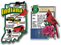 Indiana Jumbo Map & State Montage Magnet Set by Classic Magnets, 2-Piece Set, Collectible Souvenirs Made in the USA