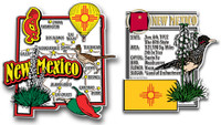 New Mexico Jumbo Map & State Montage Magnet Set by Classic Magnets, 2-Piece Set, Collectible Souvenirs Made in the USA