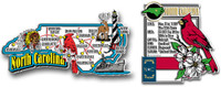 North Carolina Jumbo Map & State Montage Magnet Set by Classic Magnets, 2-Piece Set, Collectible Souvenirs Made in the USA
