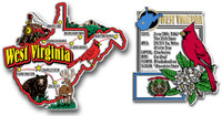 West Virginia Jumbo Map & State Montage Magnet Set by Classic Magnets, 2-Piece Set, Collectible Souvenirs Made in the USA