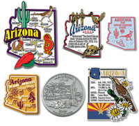 Arizona Six-Piece State Magnet Set by Classic Magnets, Includes 6 Unique Designs, Collectible Souvenirs Made in the USA