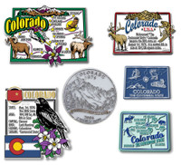 Colorado Six-Piece State Magnet Set by Classic Magnets, Includes 6 Unique Designs, Collectible Souvenirs Made in the USA