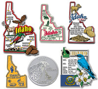 Idaho Six-Piece State Magnet Set by Classic Magnets, Includes 6 Unique Designs, Collectible Souvenirs Made in the USA