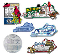 Kentucky Six-Piece State Magnet Set by Classic Magnets, Includes 6 Unique Designs, Collectible Souvenirs Made in the USA