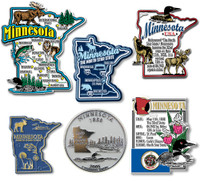 Minnesota Six-Piece State Magnet Set by Classic Magnets, Includes 6 Unique Designs, Collectible Souvenirs Made in the USA