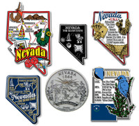 Nevada Six-Piece State Magnet Set by Classic Magnets, Includes 6 Unique Designs, Collectible Souvenirs Made in the USA