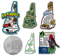 New Hampshire Six-Piece State Magnet Set by Classic Magnets, Includes 6 Unique Designs, Collectible Souvenirs Made in the USA