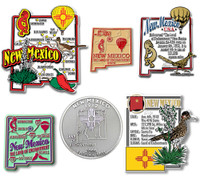 New Mexico Six-Piece State Magnet Set by Classic Magnets, Includes 6 Unique Designs, Collectible Souvenirs Made in the USA