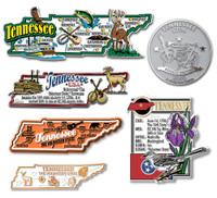 Tennessee Six-Piece State Magnet Set by Classic Magnets, Includes 6 Unique Designs, Collectible Souvenirs Made in the USA