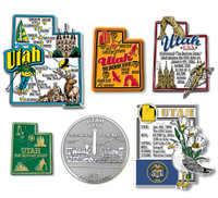 Utah Six-Piece State Magnet Set by Classic Magnets, Includes 6 Unique Designs, Collectible Souvenirs Made in the USA