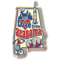 """""""Love from Alabama"""" Vintage State Magnet by Classic Magnets, Collectible Souvenirs Made in the USA"""