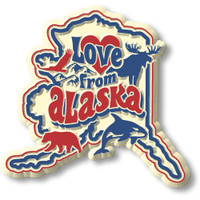 """""""Love from Alaska"""" Vintage State Magnet by Classic Magnets, Collectible Souvenirs Made in the USA"""