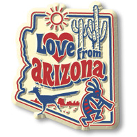"""""""Love from Arizona"""" Vintage State Magnet by Classic Magnets, Collectible Souvenirs Made in the USA"""