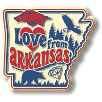 """""""Love from Arkansas"""" Vintage State Magnet by Classic Magnets, Collectible Souvenirs Made in the USA"""