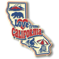 """""""Love from California"""" Vintage State Magnet by Classic Magnets, Collectible Souvenirs Made in the USA"""