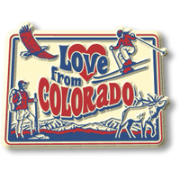 """""""Love from Colorado"""" Vintage State Magnet by Classic Magnets, Collectible Souvenirs Made in the USA"""