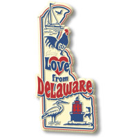 """""""Love from Delaware"""" Vintage State Magnet by Classic Magnets, Collectible Souvenirs Made in the USA"""