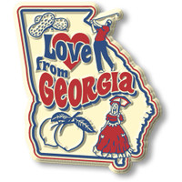 """""""Love from Georgia"""" Vintage State Magnet by Classic Magnets, Collectible Souvenirs Made in the USA"""