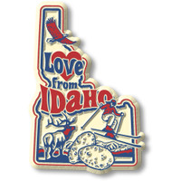 """""""Love from Idaho"""" Vintage State Magnet by Classic Magnets, Collectible Souvenirs Made in the USA"""