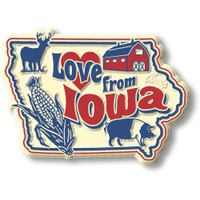 """""""Love from Iowa"""" Vintage State Magnet by Classic Magnets, Collectible Souvenirs Made in the USA"""