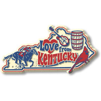 """""""Love from Kentucky"""" Vintage State Magnet by Classic Magnets, Collectible Souvenirs Made in the USA"""