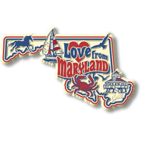 """""""Love from Maryland"""" Vintage State Magnet by Classic Magnets, Collectible Souvenirs Made in the USA"""