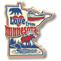 """""""Love from Minnesota"""" Vintage State Magnet by Classic Magnets, Collectible Souvenirs Made in the USA"""