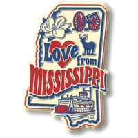 """""""Love from Mississippi"""" Vintage State Magnet by Classic Magnets, Collectible Souvenirs Made in the USA"""