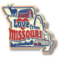 """""""Love from Missouri"""" Vintage State Magnet by Classic Magnets, Collectible Souvenirs Made in the USA"""