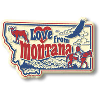 """""""Love from Montana"""" Vintage State Magnet by Classic Magnets, Collectible Souvenirs Made in the USA"""