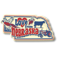 """""""Love from Nebraska"""" Vintage State Magnet by Classic Magnets, Collectible Souvenirs Made in the USA"""