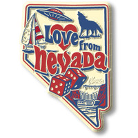 """""""Love from Nevada"""" Vintage State Magnet by Classic Magnets, Collectible Souvenirs Made in the USA"""