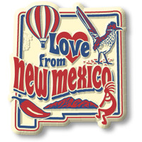 """""""Love from New Mexico"""" Vintage State Magnet by Classic Magnets, Collectible Souvenirs Made in the USA"""