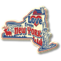 """""""Love from New York"""" Vintage State Magnet by Classic Magnets, Collectible Souvenirs Made in the USA"""