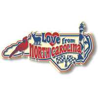 """""""Love from North Carolina"""" Vintage State Magnet by Classic Magnets, Collectible Souvenirs Made in the USA"""