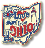 """""""Love from Ohio"""" Vintage State Magnet by Classic Magnets, Collectible Souvenirs Made in the USA"""