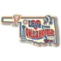 """""""Love from Oklahoma"""" Vintage State Magnet by Classic Magnets, Collectible Souvenirs Made in the USA"""