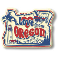 """""""Love from Oregon"""" Vintage State Magnet by Classic Magnets, Collectible Souvenirs Made in the USA"""