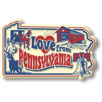 """""""Love from Pennsylvania"""" Vintage State Magnet by Classic Magnets, Collectible Souvenirs Made in the USA"""