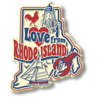 """""""Love from Rhode Island"""" Vintage State Magnet by Classic Magnets, Collectible Souvenirs Made in the USA"""