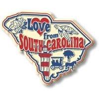 """""""Love from South Carolina"""" Vintage State Magnet by Classic Magnets, Collectible Souvenirs Made in the USA"""