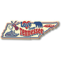 """""""Love from Tennessee"""" Vintage State Magnet by Classic Magnets, Collectible Souvenirs Made in the USA"""
